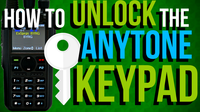 How to Unlock the AnyTone Keypad