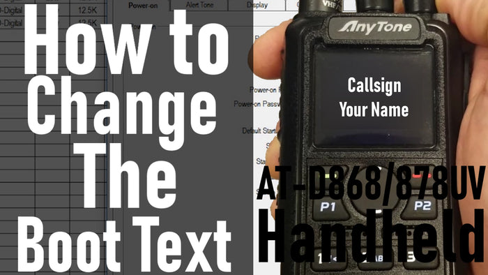 How to change the Boot Text on your AnyTone 868/878
