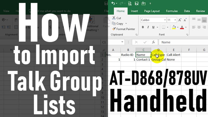 How to Import Talk Group Lists 878/868