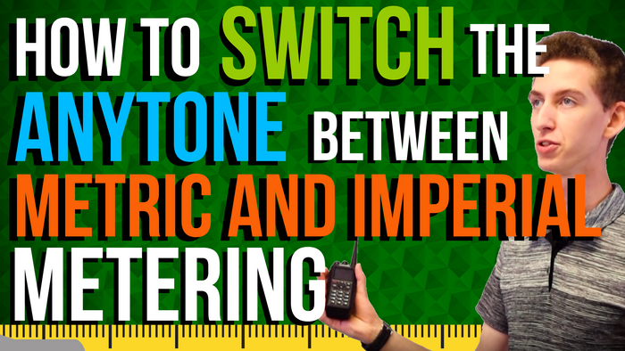How to switch the AnyTone between metric and imperial metering
