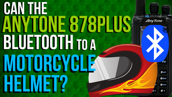 Can the AnyTone 878 PLUS Bluetooth connect to a motorcycle helmet?
