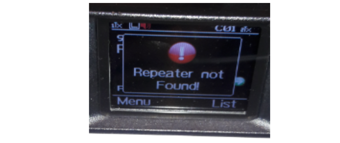 "What is this ""repeater not found"" message on my AnyTone?"