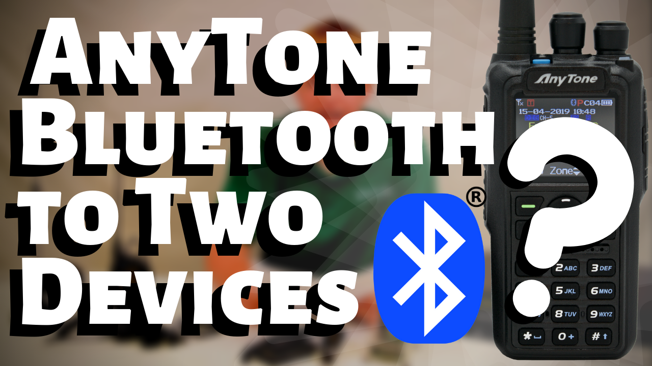 What are the AnyTone 878 PLUS's Bluetooth Capabilities?