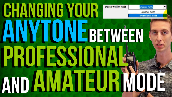 How To Switch an AnyTone Between Professional and Amateur Mode