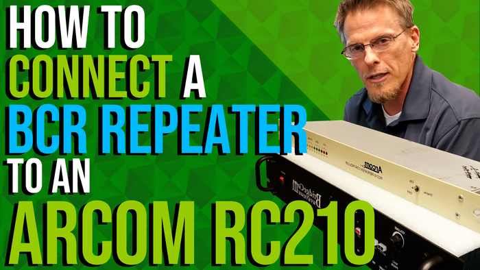 How to Connect a BCR Repeater to an Arcom RC-210