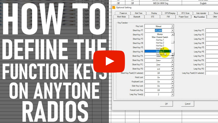 How to Define the Key Functions on the AnyTone 878/578 Radios