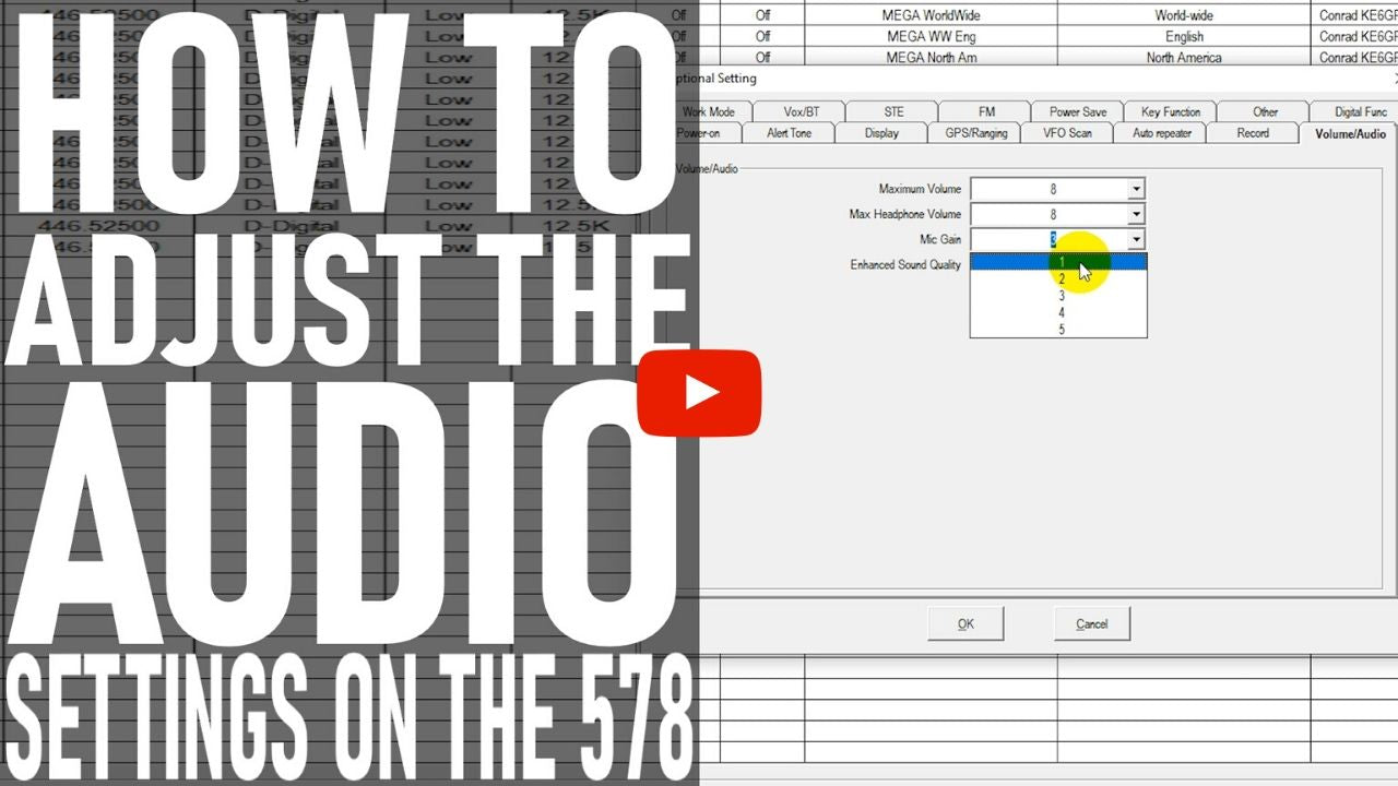 How to Adjust the Audio Settings on the AnyTone AT-D578