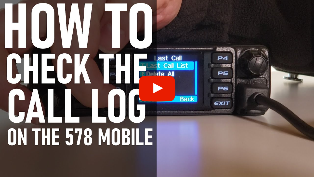 How to Check Your Call Log on Once you get Back to Your 578 Mobile Radio