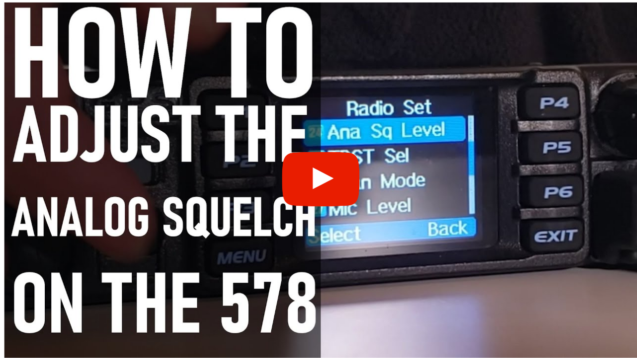 How to adjust the 578 Mobile Analog Squelch
