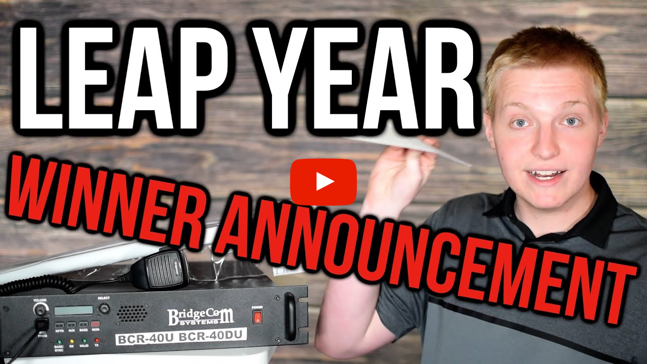 Leap Year Repeater System Giveaway Winner Announcement