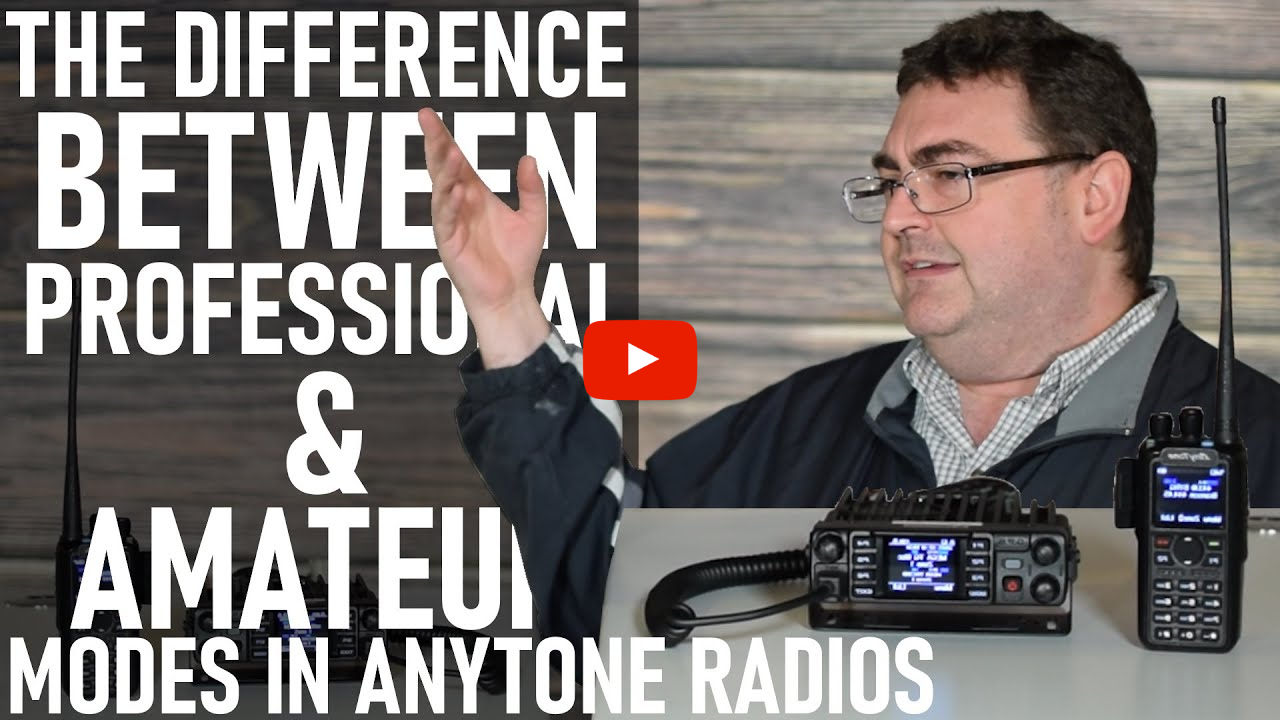 The Difference between Amateur and Professional Mode on the AnyTone Radios