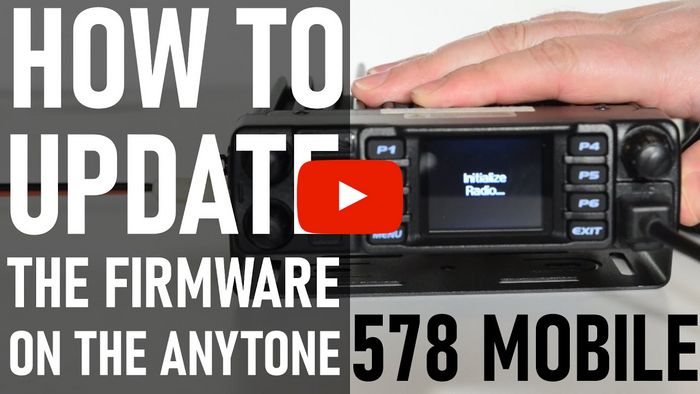 How to update the firmware to your AnyTone 578 Mobile