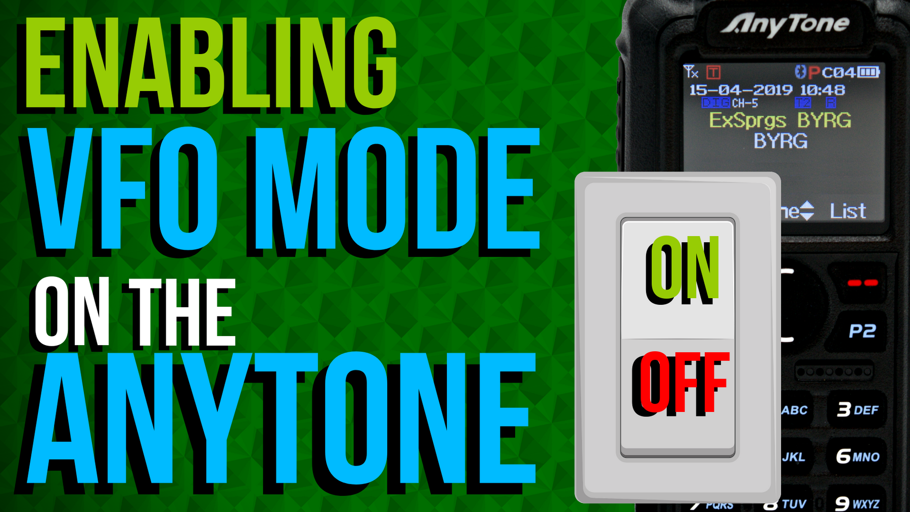 How to assign a VFO mode switching button on an AnyTone 868/878