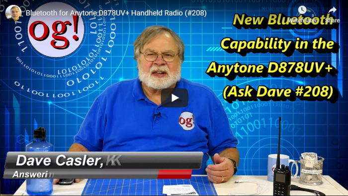Dave Casler, KEØOG, reviews the AnyTone 878 PLUS and BridgeCom Systems!