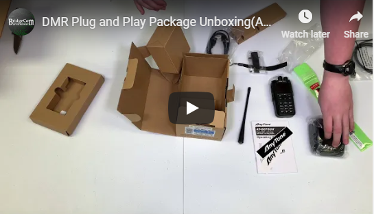 DMR Plug and Play Package Unboxing(AnyTone 878 + Dual Band DVMEGA)