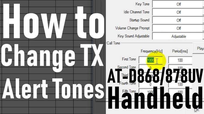 How to change the TX Alert tones on the AnyTone AT-D868UV / AT-D878UV