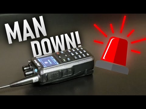 How to Turn off the Man Down Setting (Tip Over Alarm) on the AnyTone 878/Plus