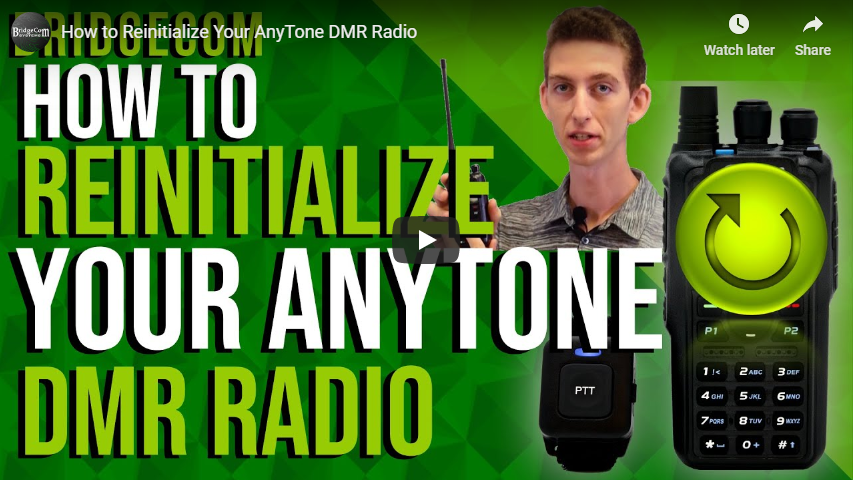 How to Reinitialize your AnyTone