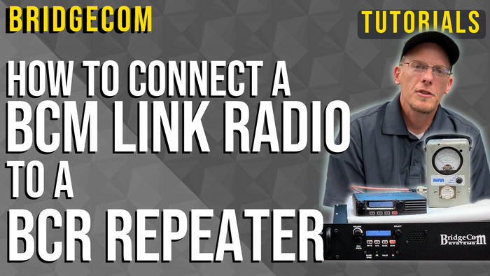 How to Connect a BCM Link Radio to a BCR Repeater