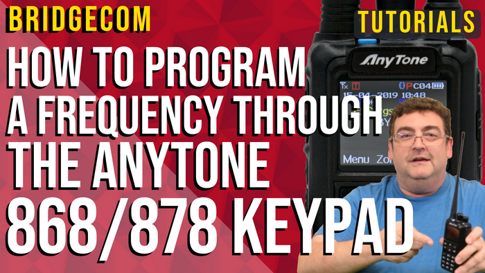 How to Program a Digital Frequency Through the AnyTone 868/878 Keypad