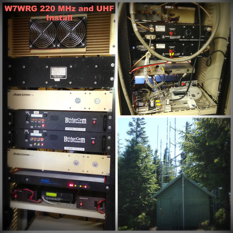 W7WRG BridgeCom 220 MHz and UHF Repeater Install