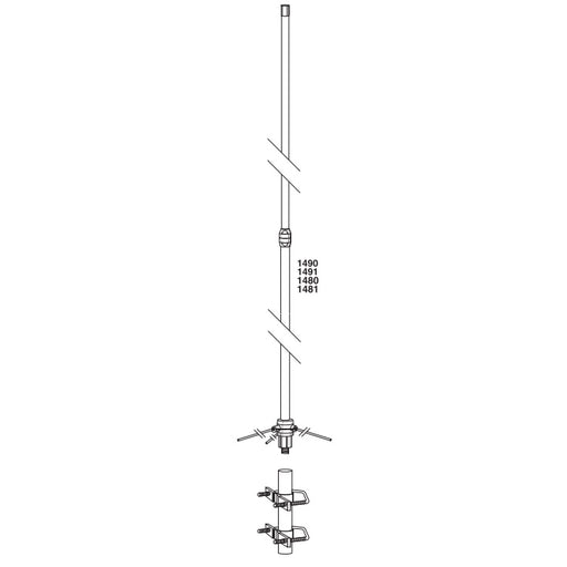 BridgeCom Systems Tram-Browning Fiberglass VHF (2m) Base Antenna - Model 1491