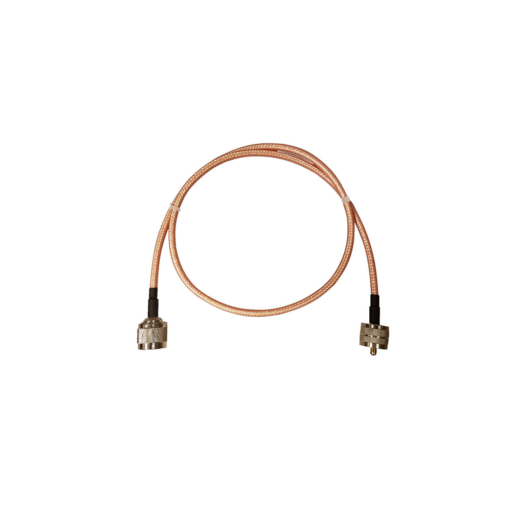 "BridgeCom Systems 30""- RG142 N-Male to PL-259 Jumper Cable"