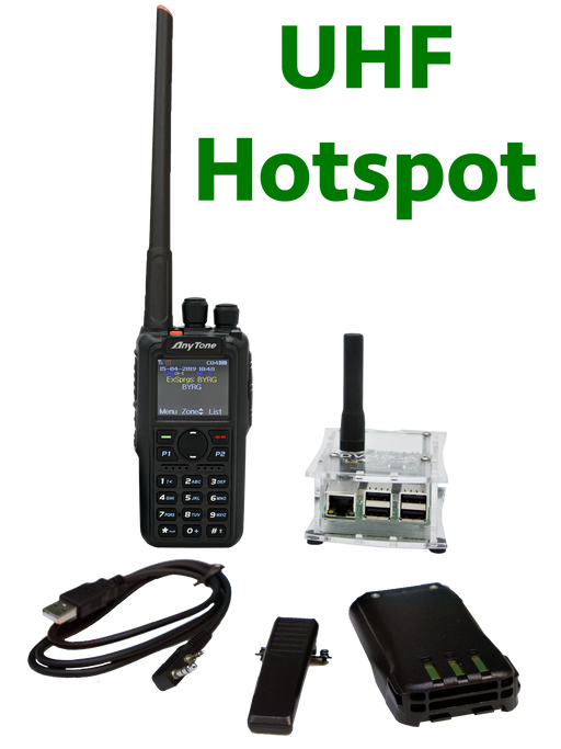 BridgeCom Systems AnyTone AT-D868UV DMR Radio + SINGLE Band DVMEGA Hotspot Programmed Plug and Play Package
