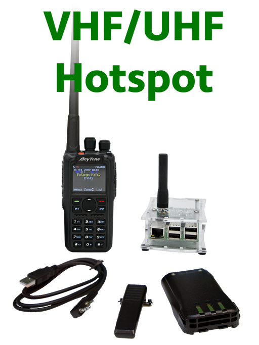 BridgeCom Systems AnyTone AT-D868UV DMR Radio + DUAL Band DVMEGA Hotspot Programmed Plug and Play Package