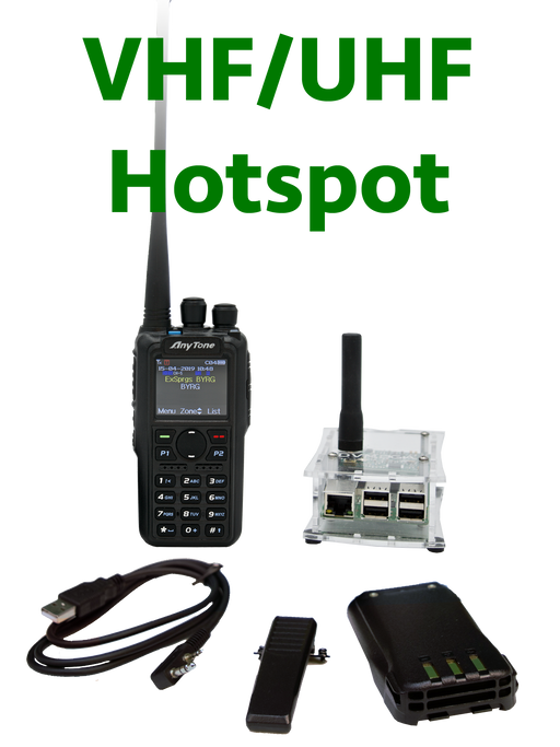 BridgeCom Systems AnyTone AT-D878UV DMR Radio + DUAL Band DVMEGA Hotspot Programmed Plug and Play Package