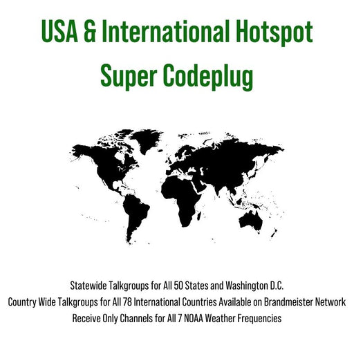 USA & International Hotspot Super Codeplug (Must Purchase w/ SkyBridge Plug and Play Package)