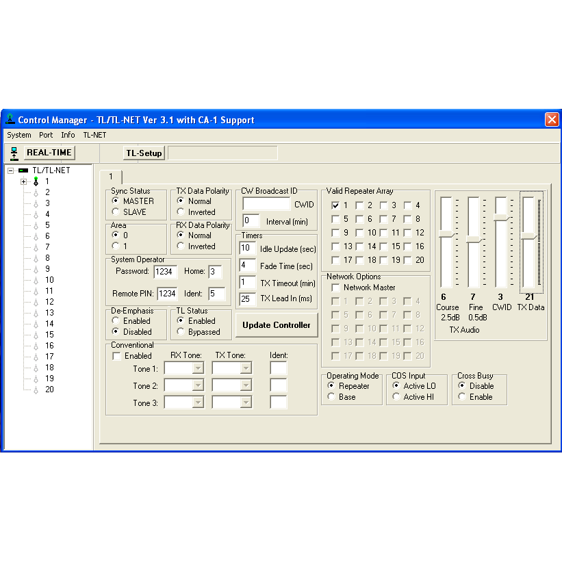 BridgeCom Systems TL/TL-NET Control Manager Software