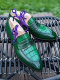 Ascot Sinatra - Emerald Green Alligator & Calf - Ascot Shoes
