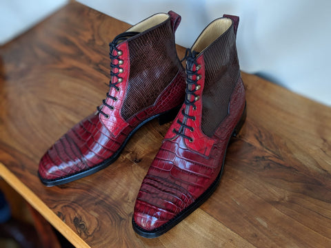 Ascot Snapdragon boots - Burgundy combination