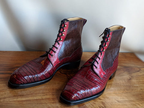 Ascot - Vass shoes - Snapdragon boots - Burgundy combination