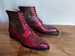 Ascot - Vass shoes - Snapdragon boots - Burgundy combination - Ascot Shoes