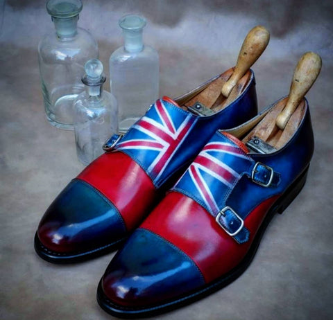 Ascot Shoes Double Monks - Union Jack