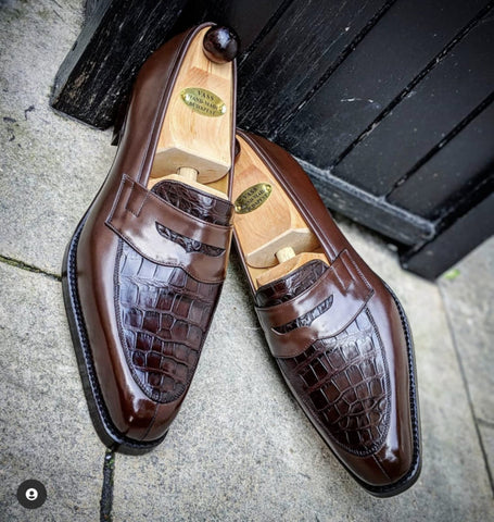 Ascot Sinatra - Chocolate Brown Crocodile & Brown Calf
