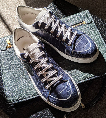 Ascot Sneakers - Blue Crocodile