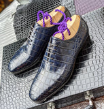 Alligator Wholecut - Blue - Ascot Shoes
