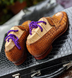 Alligator Loafer - Tan Crocodile - Ascot Shoes
