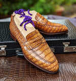 Ascot Sinatra - Tan Crocodile - Ascot Shoes