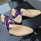 Ascot Sinatra - Purple Alligator & Cream Crust - Ascot Shoes