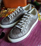 Ascot Sneakers - Grey Crocodile - Ascot Shoes