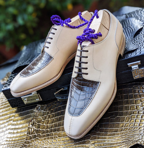 Ascot Kaan - Cream Calf & Caviar Alligator