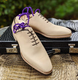 Ascot Wholecut - Cream Crust - Ascot Shoes