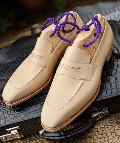 Ascot Wholecut Loafer - Cream Crust