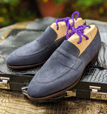 Ascot Sinatra - Navy Blue Suede - Ascot Shoes