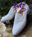 Ascot Sinatra - White Alligator - Ascot Shoes