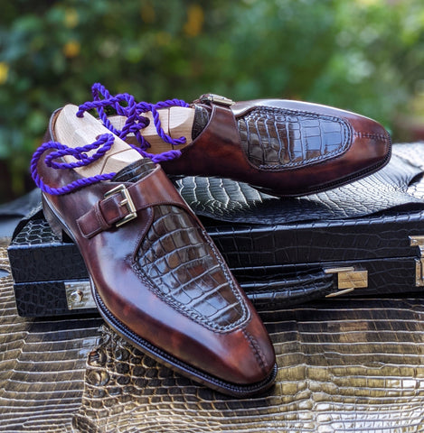 Ascot Andre - Brown Crocodile & Brown Calf